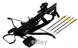 175 LBS Recurve Hunting Crossbow Package Black with Arrows