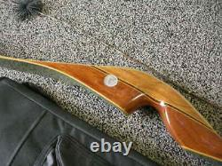 1971 FRED BEAR 40# Kodiak Hunter RH Recurve Magnum Bow with 12 Arrows and Quiver