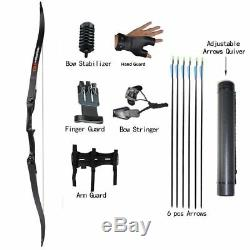 30-50lbs Archery Hunting Takedown Recurve Bow and Arrows Shooting Right Hand Set