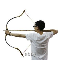 30-50lbs Traditional Archery Recurve Bow + 6X Wood Arrows & 1X Quiver Hunting