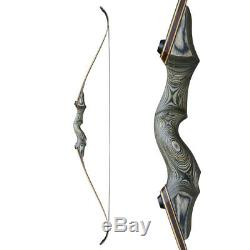 30-60lbs 60'' Archery Takedown Recurve Bow Longbow Set Adult Hunting Practice