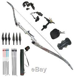 30-70lbs Archery Takedown Recurve Bow Set Hunting Kit RH Outdoor Sport Adult