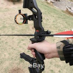 35# Archery Takedown Recurve Bow Alloy RH Riser Hunting 60'' Accessories Set Bow