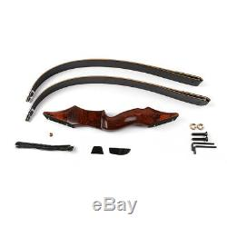 40-60lbs 58 Archery Takedown Recurve Bow Wood Riser Hunting Laminated Bow Set