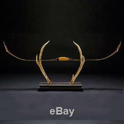 50Ibs Archery 50 Wood Recurve Bow Horsebow Practice Longbow with Bowstring