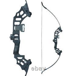 50lb Archery 51 Takedown Recurve Bow Set 12x Arrows Broadheads Adult Right Hand