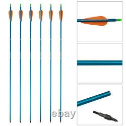 50lb Archery Takedown Recurve Bow Set 56 Hunting Package Arrows Broadheads