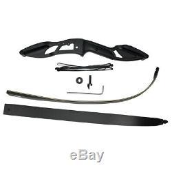 50lb RH Archery Recurve Bow Set Take Down Kits Fiberglass Arrows Hunting Package