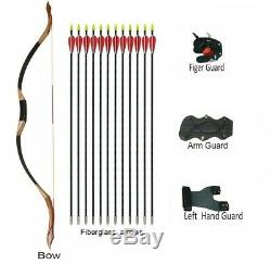 50lbs Archery Recurve Longbow Traditional Handmade Mongolian Horse Bow Hunting