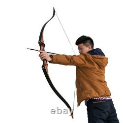 50lbs Archery Takedown Recurve Bow Right Hand 58'' Adult Men Hunting Longbow