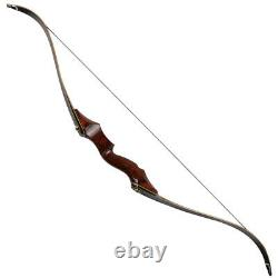 50lbs Takedown Recurve Bow 58 Archery Adult Hunting Target Wooden Longbow RH