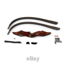 58 Zoll 60lb Jagdbogen RH zerlegbar Take-Down Recurvebogen und 12pcs Pfeile