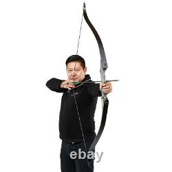 60 Archery Hunting Takedown Recurve Bow Laminated Limbs & Stringer RH 30-50lbs