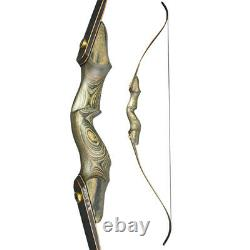 60'' Archery Recurve Bow Wooden Riser Takedown 35-60lbs Hunting Shooting Target
