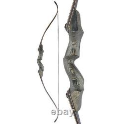 60 Takedown Recurve Bow 25-60lbs Wooden Riser Archery Hunting Shooting Target