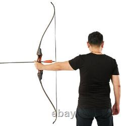 60 Wooden Riser Takedown Recurve Bow Right Hand Archery Hunting 30-50lb Target
