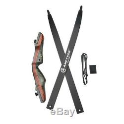 62 Archery Recurve Bow Arrows Set Takedown Wooden Longbow Hunting 20-50lbs