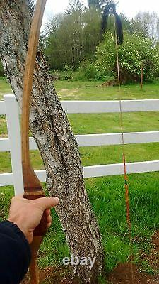 70 inch Mollegebat Hunting Bow 45 lbs at 28 inch draw Red Oak Selfbow