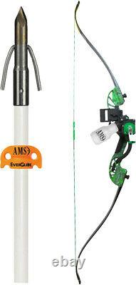 Ams Bowfishing Complete Bow Kit Water Moc Recurve Green Rh B705MOCRH