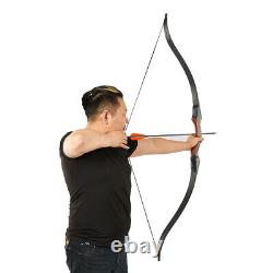 Archery Hunting 60 Takedown Laminated Recurve Bow with String Silencer 30-50lbs