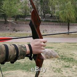 Archery Hunting Right Hand Takedown Wood Riser Laminated Limbs Recurve Bow 60lbs