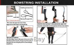 Archery Recurve Bow Sets for Adult 40LBS 57 Takedown Hunting & Fiberglass Arrow