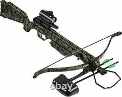 Barnett WG-XR250C Recurve Crossbow Kit with Illuminated Red Dot and Elude Camo
