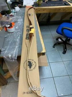 Bear Archery Kodiak MAPLE/ BOLIV ROSEWOOD GLOSS Recurve Bow LH 60 55LB AK1555GL