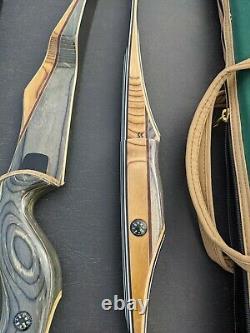Bear Commemorative 3 bow set 422 SUPER MAGNUM SUPER KODIAK LONGBOW W CASES NOS