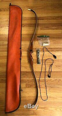 Bear Grizzly Recurve Bow (1968) 56 48 Lb. With Original Travel Case