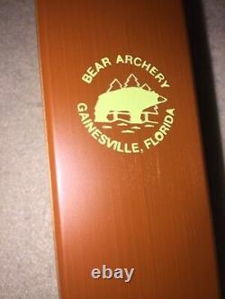Bear Kodiak Recurve Bow RH 35# Satin Model Purple Heart/Rosewood A7