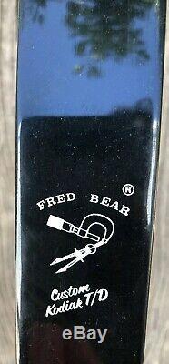Bear Kodiak Takedown Recurve Bow65#@28 AMO 60 Raised Coin Boa Covered Limbs