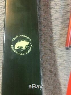 Bear Super Kodiak, Green Glass, 64, 50#, Quiver And Arrows