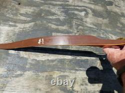 Bear Zebra Wood Grizzly 58 Recurve Bow 39# @28 Right Hand Very Nice