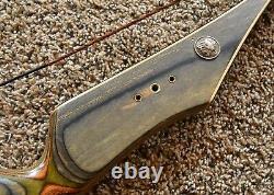 Beautiful Fred Bear recurve bow Kodiak Hunter 55# RH 60 90's Green Wood Design