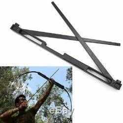 Black 40/60lbs Folding Recurve Takedown Bow Alloy Riser Archery Hunting Shooting