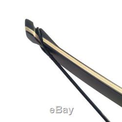 Black Hunter Archery Longbow Takedown Recurve Bow Right Hand 60 Hunting Target