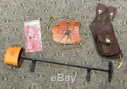 Black Widow Autumn Oak Recurve Bow PSA III 50# @ 28, 62 LH, withtons of extras