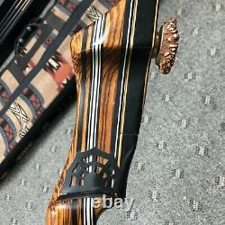 Black Widow PMA X Exotic Zebrawood Takedown Recurve Bow 47lb @ 28in 60 withArrows