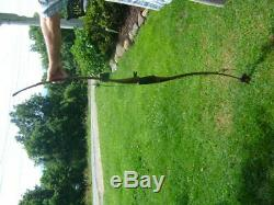 Black Widow Recurve Long Recurve Bow 62 53# #05865 Nice