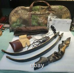 Bob Lee Signature Take Down Recurve Bow RH 63# With Quiver Good Condition