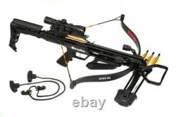 Bruin Attack 265 Recurve Ready to Hunt Crossbow Package Black
