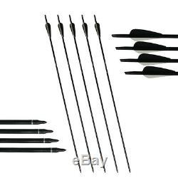 D&Q 60lb Takedown Recurve Bow RH Sets Archery Hunting Fiberglass Arrows Kits