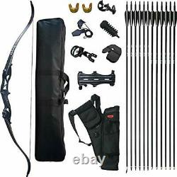 D&Q Takedown Recurve Bow and Arrow Set Adult Kit Archery Hunting Target Practice
