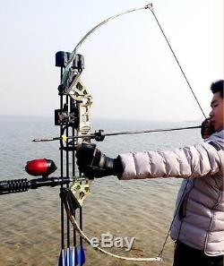 Fishing Reel Takedown Recurve Bow Archery Hunting Fish 40lbs Bowfishing Kit Camo