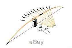Flagella Dei Settrilaminated English Longbow, 12 Arrows, Armguard, String 25-60#