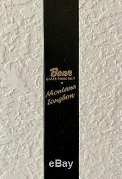 Fred Bear Montana Long Bow 40#