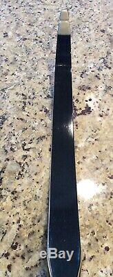 Fred Bear Super Magnum 48 Recurve Bow Right Hand 35# Draw 1966 Black Beauty