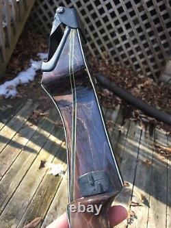 Fred Bear Takedown Recurve Archery Bow B Riser Green Stripe