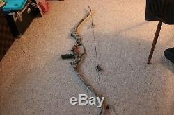Hoyt Gamemaster II Recurve Bow 45lb Draw Used with Case and Limbsaver